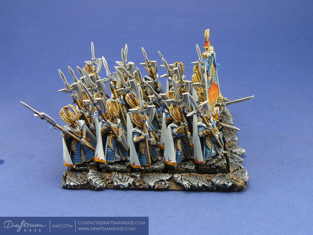 Wh High Elves Phoenix Guard 171 Draftsman Daze